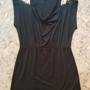 Lily White Tops - Lily White Black Boutique Style Top With Sequins